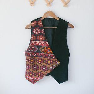 Vintage Tapestry Vest